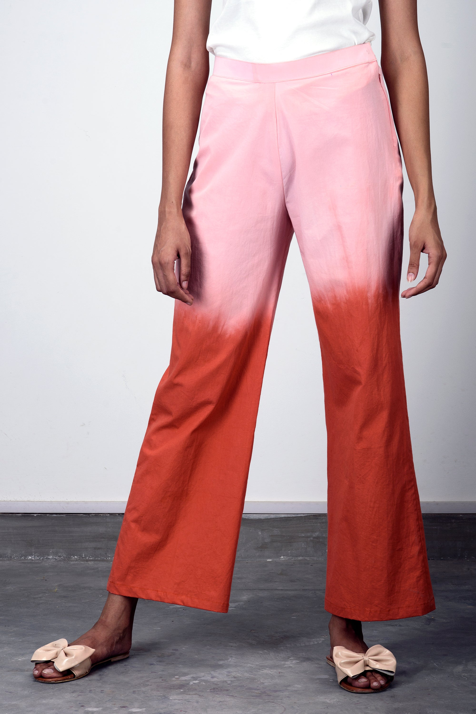 Women wide leg Cotton Trousers