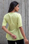 Green Peplum Blouse
