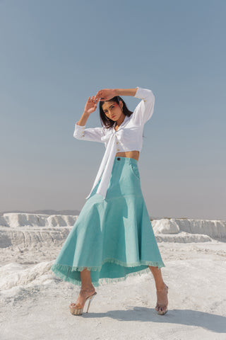 Mia Assymetrical Skirt (6440359297193)