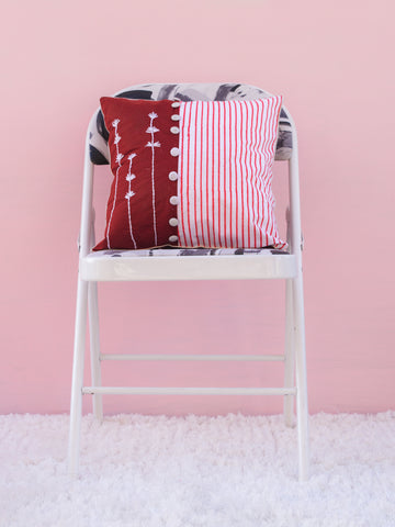 Red Emb Cushion Cover (4365104676907)