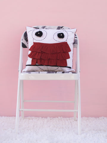 Owl Frill Cushion Cover (4365129809963)