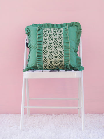 Pineapple Ruffled Cushion Cover (4365117915179)