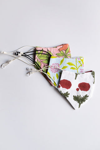 Floral Face Masks - Set of 3