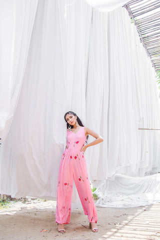 The Pink Poppy Jumpsuit