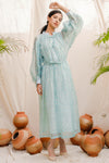 Tahira Sheer Silk Dress
