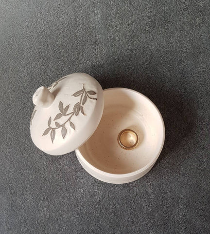 Porcelain Box Wheel Thrown, Salt & Pepper
