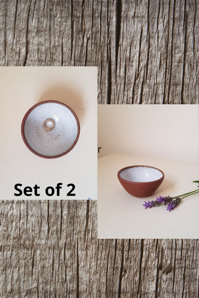 Ceramic Trinket Dish - Set of 2 - ShellyClayspot