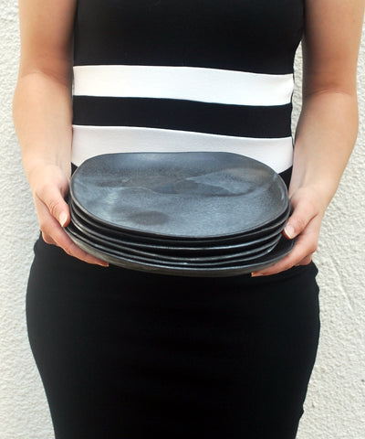 Black Dinner Plates Set of 4