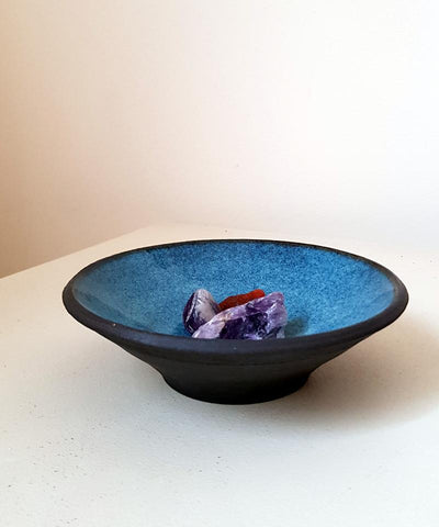 Blue Ceramic Catchall Bowl - ShellyClayspot