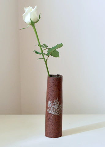 Small Ceramic Vase Rustic Decorative Bud Vase - ShellyClayspot