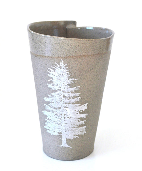 Gray Tree Mugs Set of 2 - ShellyClayspot