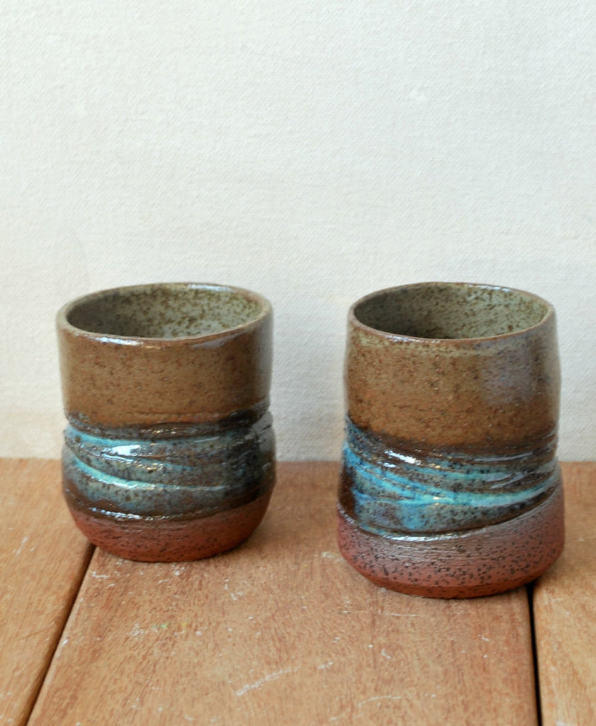 Small Ceramic Cups Set of 2 Small Teacups - ShellyClayspot