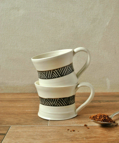 Porcelain Espresso Cup Set of 4 - ShellyClayspot