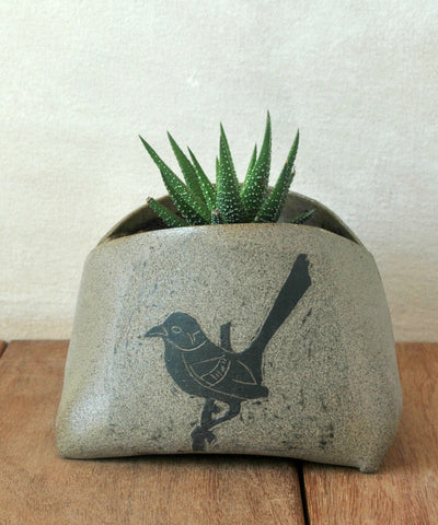 Ceramic Succulent Planter Pottery Indoor Planter Bird Decoration Vase - ShellyClayspot