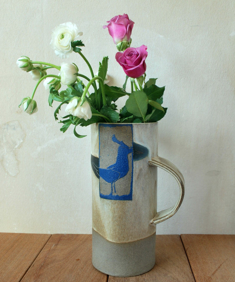 Decorative Ceramic Flower Vase Tall Cylinder Vase - ShellyClayspot