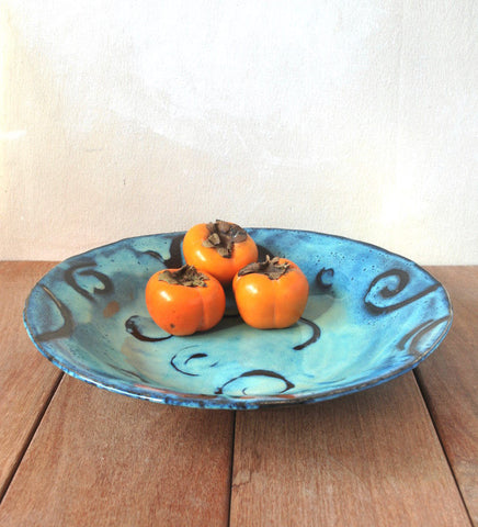 Ceramic Serving Bowl Large Serving Platter - ShellyClayspot