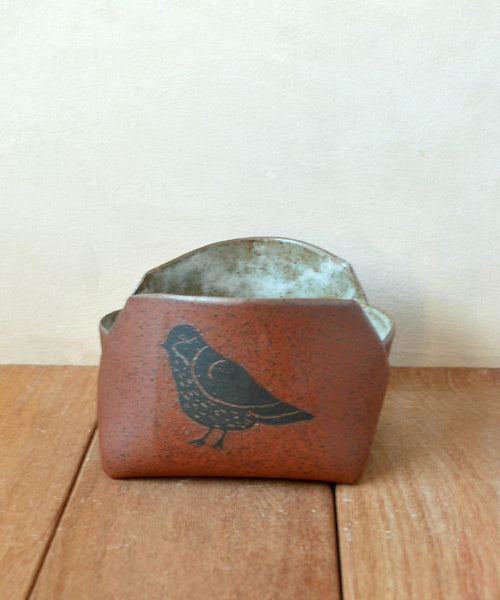 Ceramic Serving Bowl, Bird Decorated Pasta Bowl - ShellyClayspot