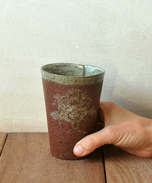 Rustic Ceramic Cup Set of 2 - ShellyClayspot