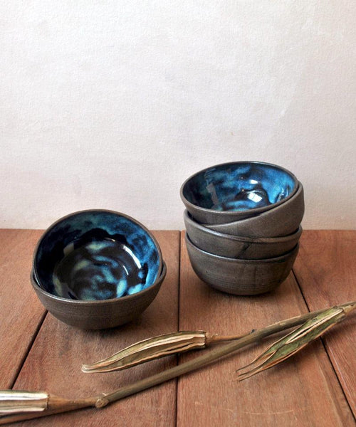 Small Blue Bowls - Set of 2 - ShellyClayspot