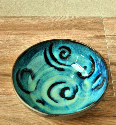 Turquoise Ceramic Bowl Decorative  bowl - ShellyClayspot