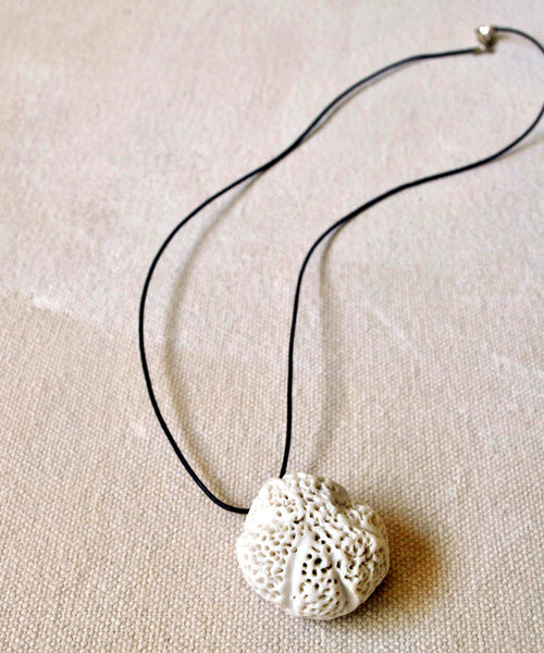Porcelain Necklace Brain Coral Sea Themed Jewelry - ShellyClayspot