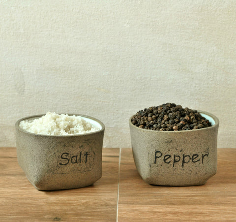 Salt & Pepper Cellars Condiment Holder - ShellyClayspot