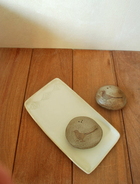 Ceramic Salt & Pepper Shakers Beach Pebble Shaker - ShellyClayspot
