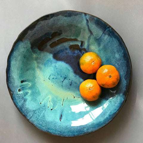 Ceramic Bowl Large Fruit Bowl - ShellyClayspot