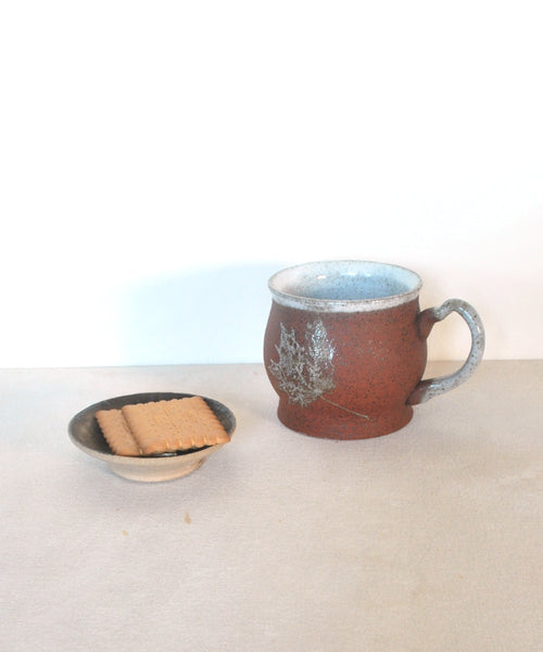Large Coffee Mug Maple Leaf Set of 2 - ShellyClayspot