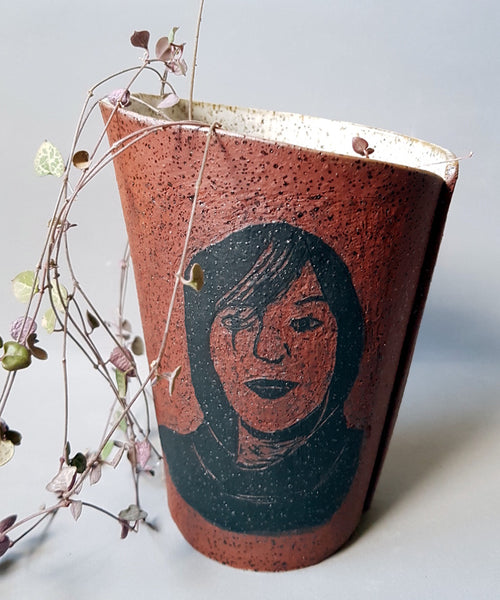 Personalized Portrait Pottery Planter - ShellyClayspot