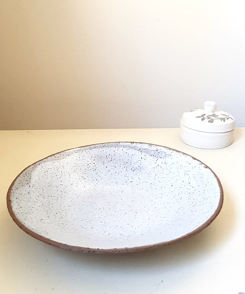 White Pottery Bowl - Shellyclayspot