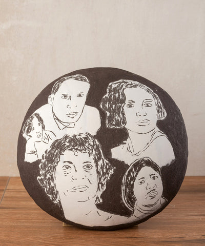 Ceramic Wall Art Disc Shape Wall Hanging Decorative Plate- ShellyClayspot