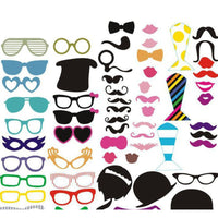 Photo Booth Props (58 Pieces)