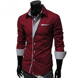 Korean Style Slim Fit Dress Shirt