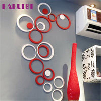 3D Circles Wall Stickers (5 Piece Set)