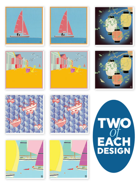 10 pack of Travel Greeting Cards. Emily Burningham range