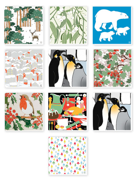 10 Pack of Christmas Cards - Emily Burningham Range