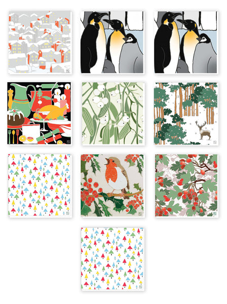 Multi Pack of 10 Christmas Cards - Emily Burningham Range