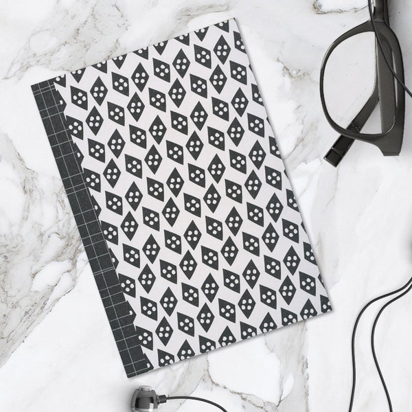 Black Diamond Pattern A6 Pocket Notebook