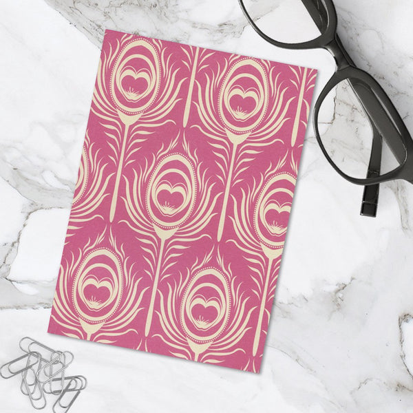 Pretty Pink Floral Design A6 Pocket Notebook