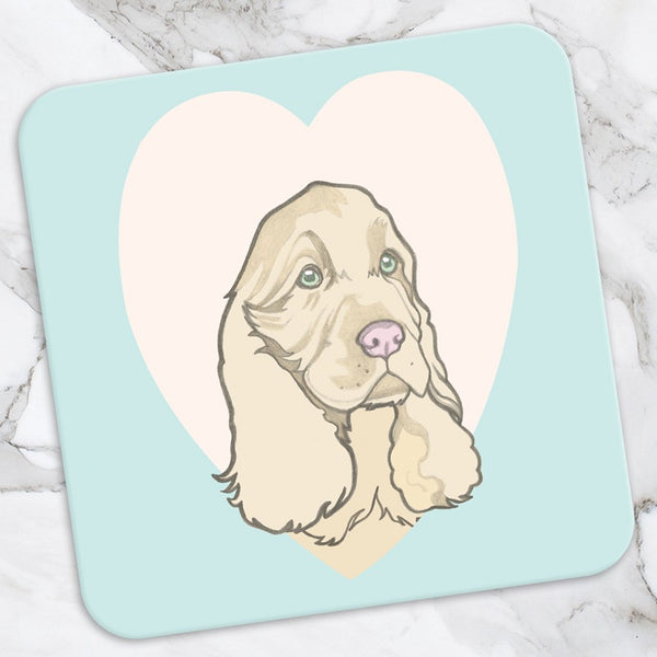 Spaniel Coaster Greeting Card