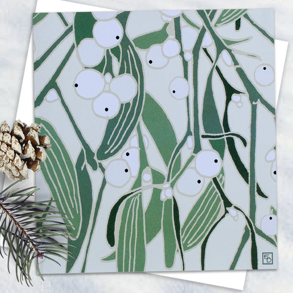 Mistletoe - Design By Emily Burningmam - Blank Greetings Card - Christmas Range