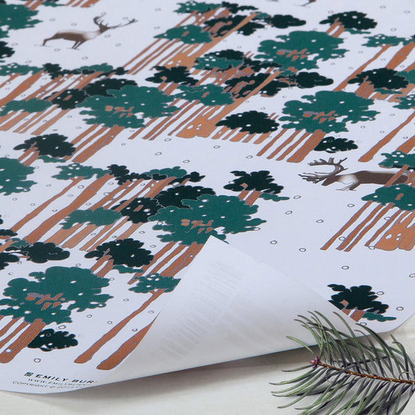 Caribou Christmas Gift Wrap (2 sheets folded)