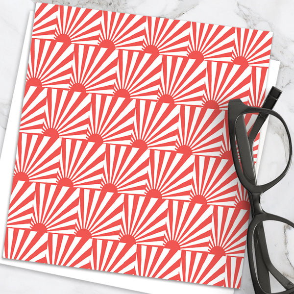 Sunrise - Design By Emily Burningham - Blank Greetings Card - Geometric Range
