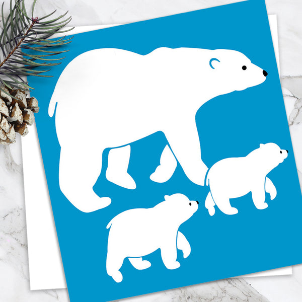 Polar Bear - Design By Emily Burningham - Blank Greetings Card - Children's Range