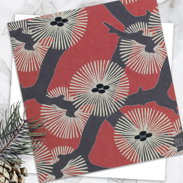 Pine Needles - Design By Emily Burningham - Blank Greetings Card - Christmas Range