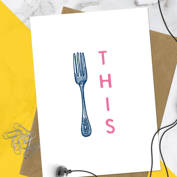 Fork This Greeting Card