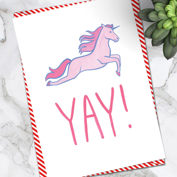 Yay Unicorn (Pack of 6)