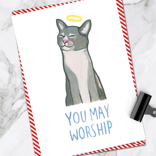 You May Worship Cat (Pack of 6)