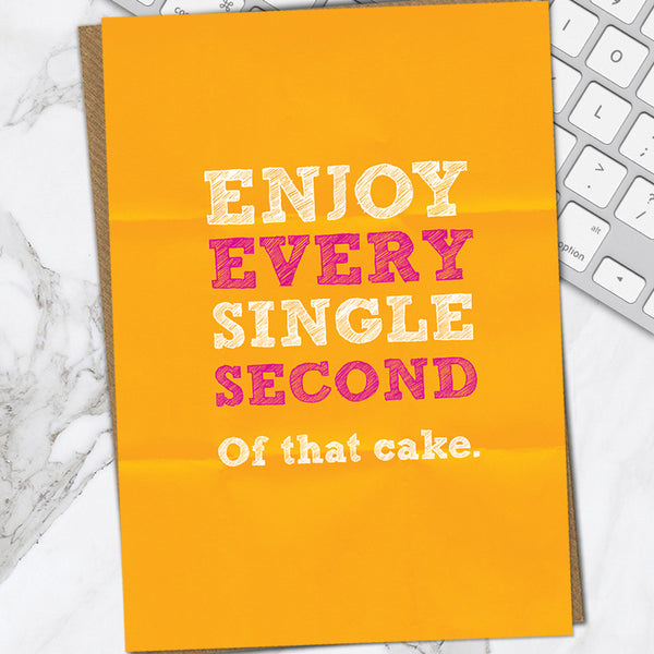 Enjoy Every Second (Pack Of 6)